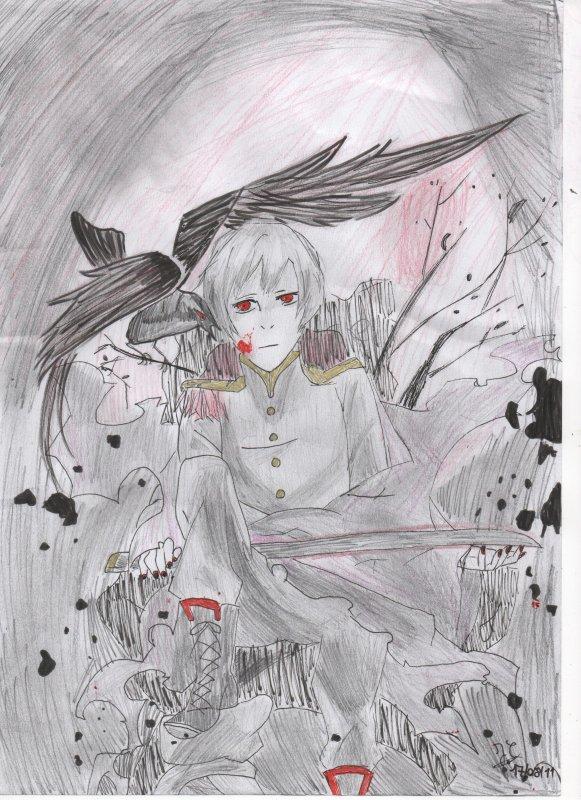 dessin de dark kiku