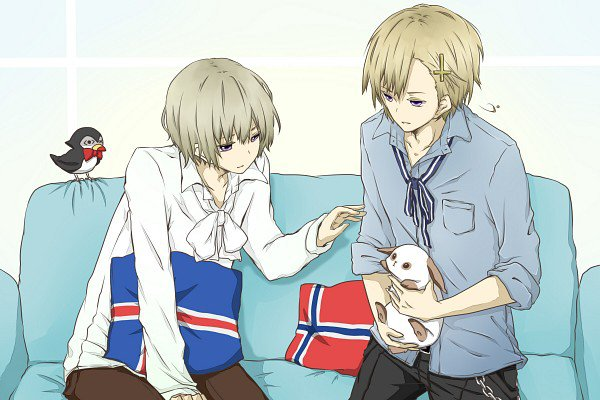 """Fan-arts Ice-kun x Norway"""