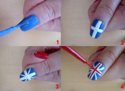 Verni a ongle drapeau americain