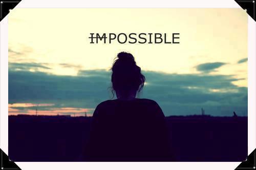 impossible n'est pas un mot