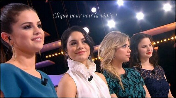 × Vanessa, Selena, Ashley et Rachel au Grand Journal - émission diffusée le 1er mars 2013 :-)
