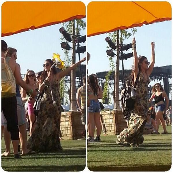 × Vanessa au festival Coachella ce 12 avril 2013 avec Austin Butler et des amis :-)