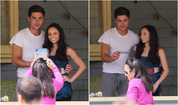 × Zac sur le tournage de Townies / From Here to Fraternity le 8 mai 2013