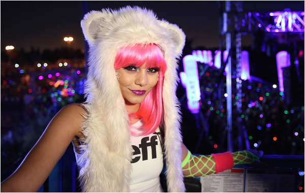 × Vanessa au 2013 Electric Run Los Angeles