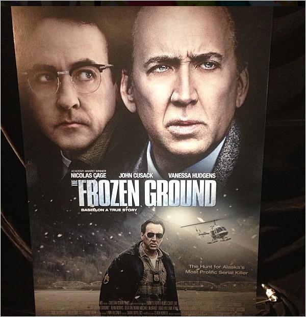 """× Nouveau poster de The Frozen Ground publié sur Instagram par Vanessa : """"Oh hey mon nom"""" :-)"""