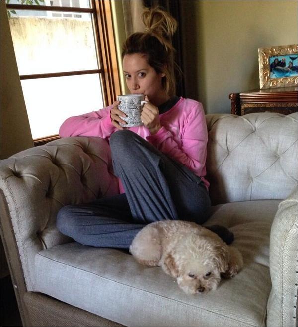 Vanessa à la salle de sport ce matin à New-York :-)