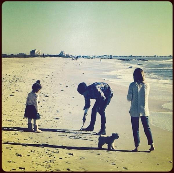 Ashley à la plage en Floride ce week-end :-)