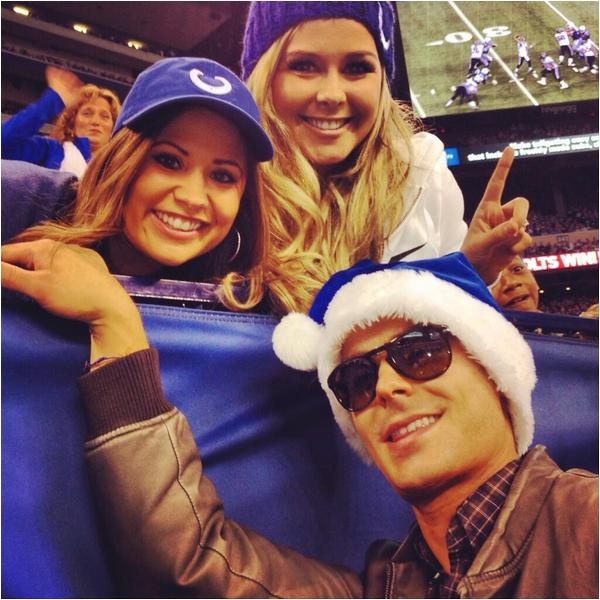 Zac à un match de football américain ce dimanche 15 décembre à Indianapolis :-)