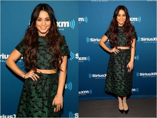 Vanessa en visite aux SiriusXM Studios ce 23 janvier pour parler de Gimme Shelter
