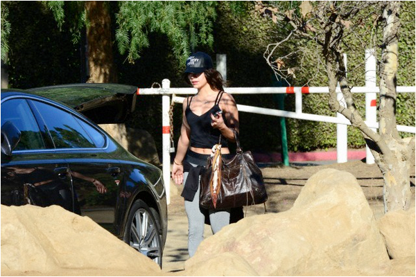 Vanessa en balade au Runyon Canyon - 3 février 2014