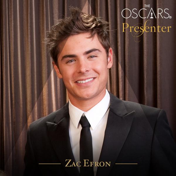 Zac remettra un prix à la 86e cérémonie des Oscars ce 2 mars 2014 :)