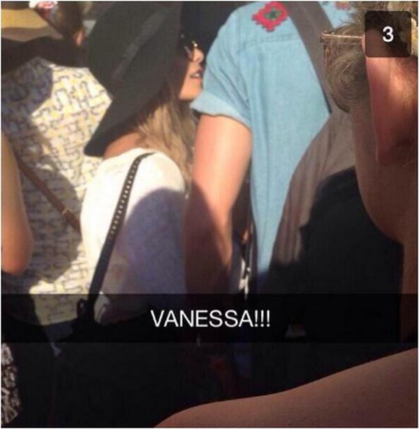 Vanessa au Coachella, Jour 1