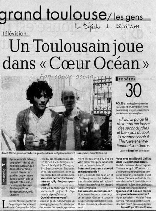 """Un Toulousain joue dans """"C½ur Océan"""""""