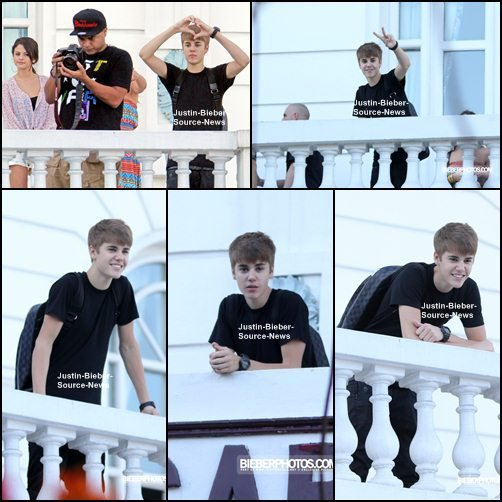 06/10/11: Salue ses fans brésiliens du haut de son balcon, Rio de Janeiro