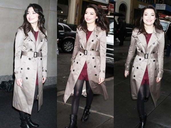 12/01/12 : Miranda se rendant sur les plateau du Today Show