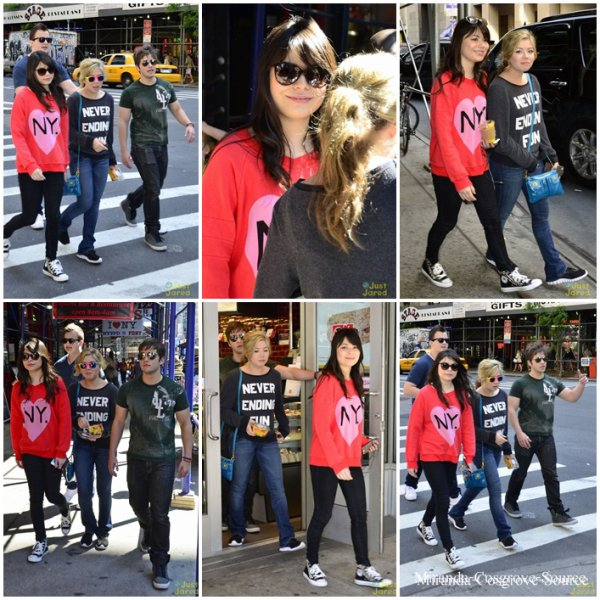 18/05/2012 Miranda et cast d'icarly a New York