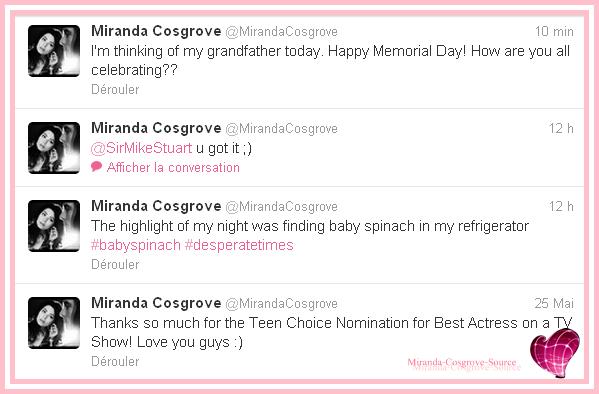 Quelque tweet de Miranda !!