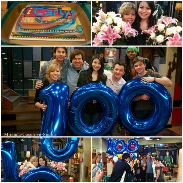Miranda et le cast d'Icarly fêtais le 100 ème episode d'Icarly