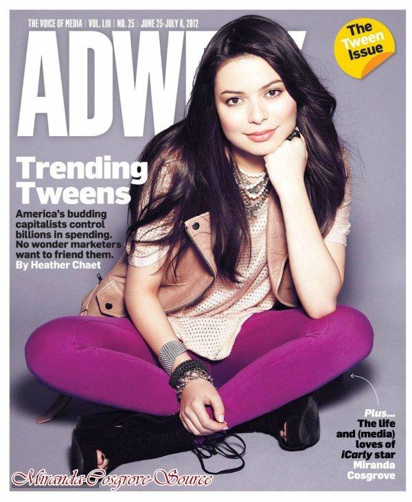 Miranda fait la couverture de  Adweek Magazine