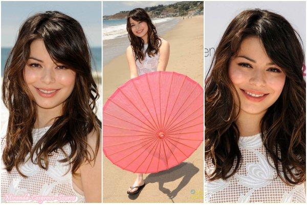 """16/07/2012 Miranda faisait des photoshoot pour l'oeuvre """"Wave For Change"""""""