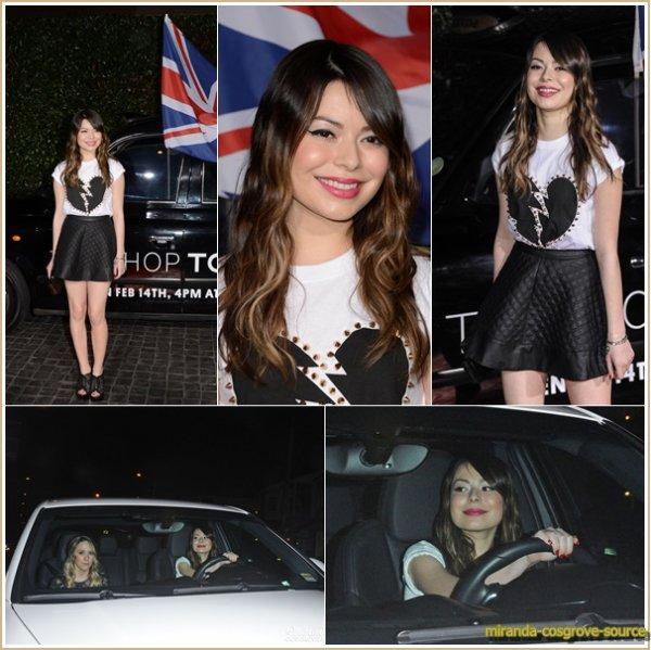 15/02/2013 Miranda était a l'ouverture de topshop topman