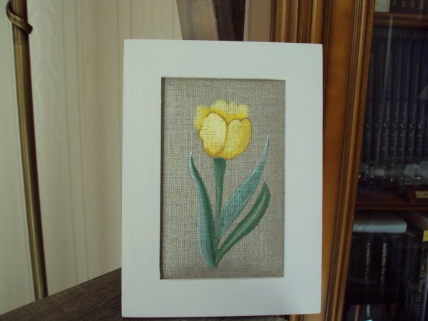 La tulipe ( Acrylique sur lin)