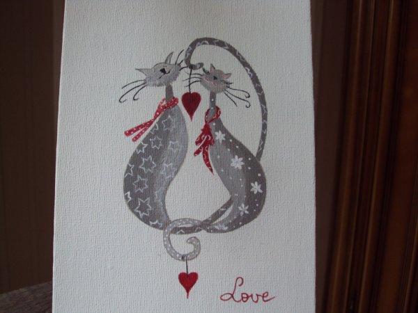 Un amour de chat toile (13x18)