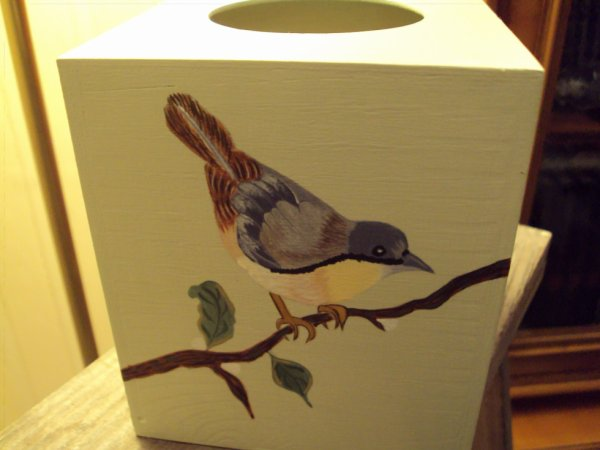 Boite à mouchoirs carrée (Commande) oiseaux.