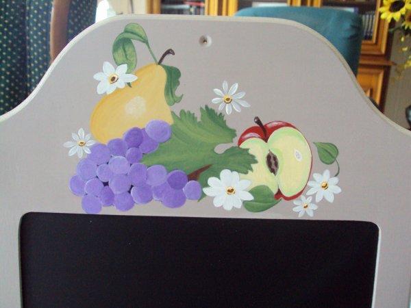 Les fruits et fleurs de plus près.