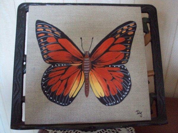 """Tableau Lin """" La chasse aux papillons """""""