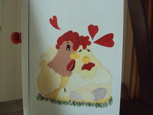 L'autre coté, elles sont pas mignones mes poulettes ?