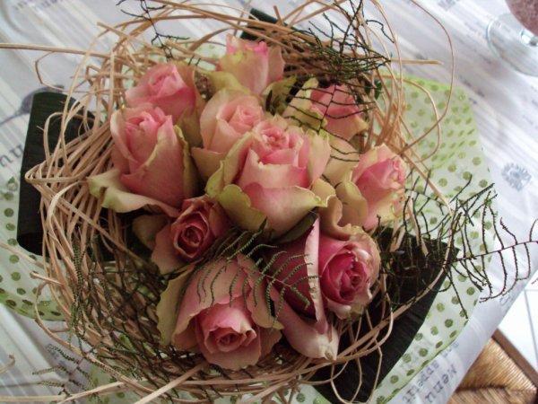 Un bouquet de roses pour le plaisir.