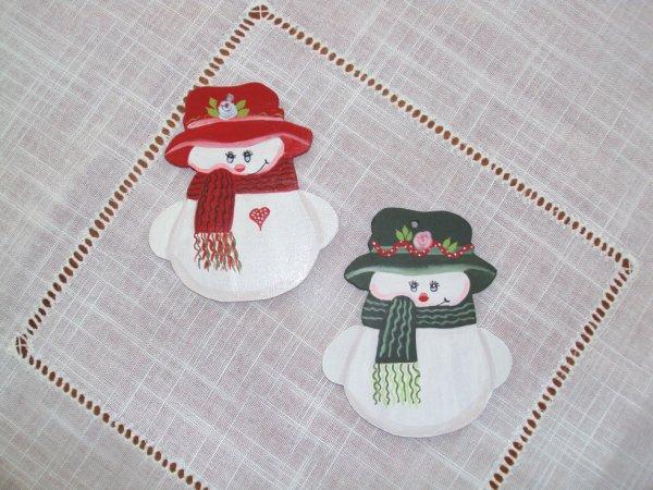 Dècos bonhommes de neige à accrocher dans le sapin.