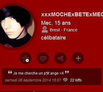 attention les filles un autre fake de  : xxxmochexbetexmechantxxx