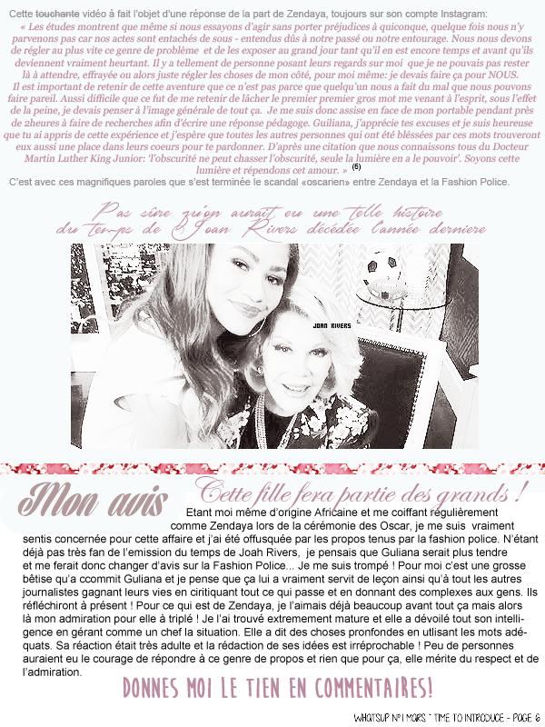 * ____________● ● ● __N°1 Mars 2015 - Article 2:  Dossier Zendaya (Partie 1)» Posté par Audrey, le 3 mars 2015