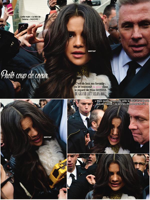 * ____________● ● ● __N°1 Mars 2015 - Article 7:  S. Gomez à la clôture de la Fashion Week de Paris» Posté par Audrey, le 26 mars 2015