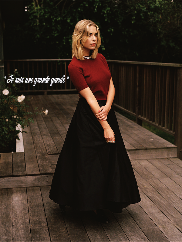 * ____________● ● ● __N°2 Avril 2015 - Article 2:  Ashley Benson pour Wonderland Magazine » Posté par Audrey, le 8 avril 2015