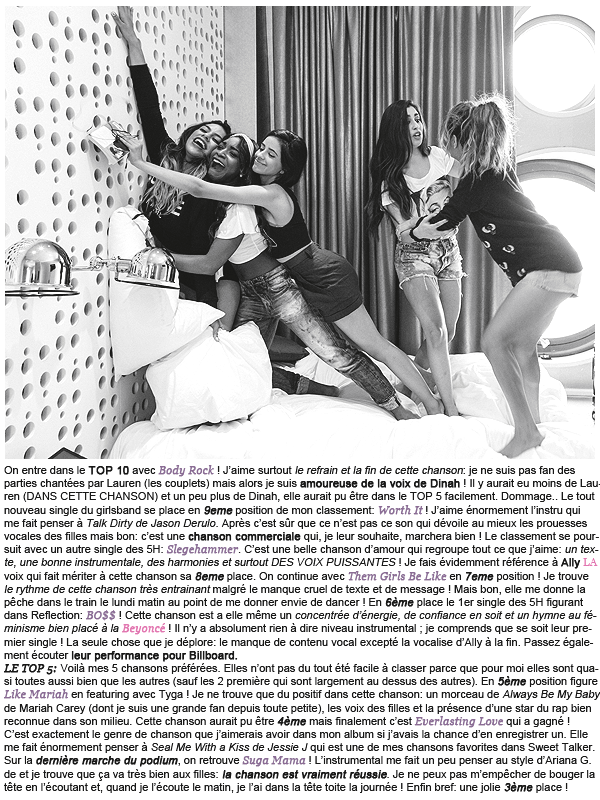 * ____________● ● ● __N°2 Avril 2015 - Article 5: Reflection - Fith Harmony  » Posté par Audrey, le 26 avril 2015