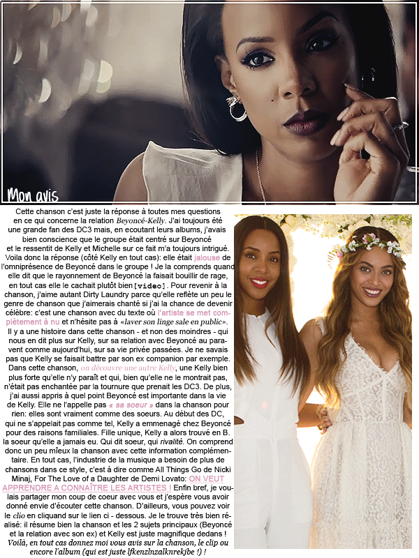 * ____________● ● ● __N°3 Mai 2015 - Article 2: Dirty Laundry - Kelly Rowland » Posté par Audrey, le 18 mai 2015