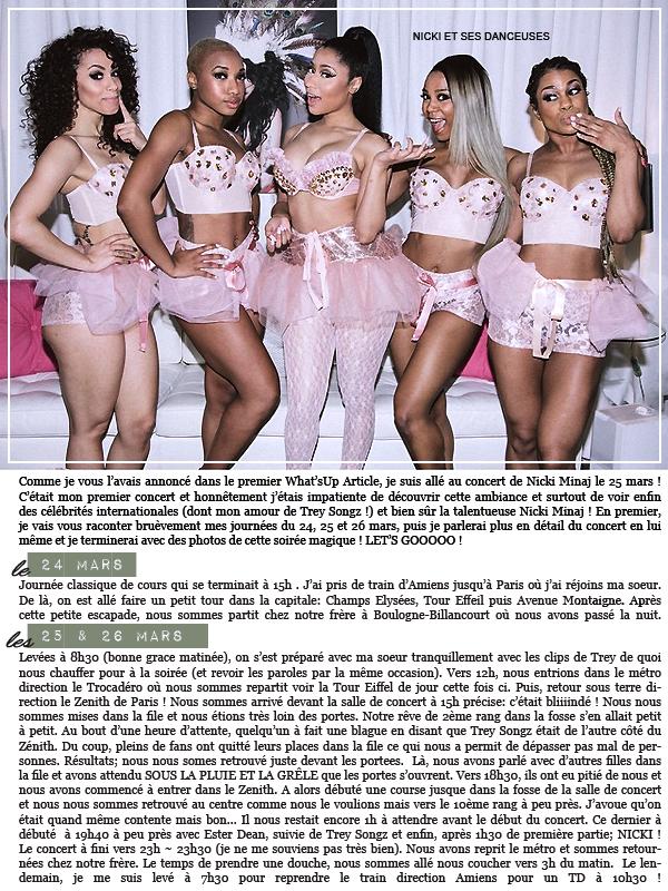 * ◆ N°4 Juin 2015 - Article 7: Dossier Nicki Minaj (Partie 1)  | Posté par Audrey, le 20 juin 2015  WHATSUP ARTICLE ASSOCIE