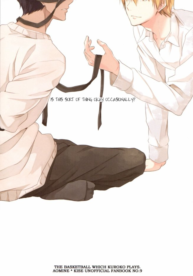 Doujin Aomine x Kise :  Kouiu mono mo Iinjyanaisuka de Tamani (Parfois pourquoi ne pas faire de telles choses de temps en temps ) *****