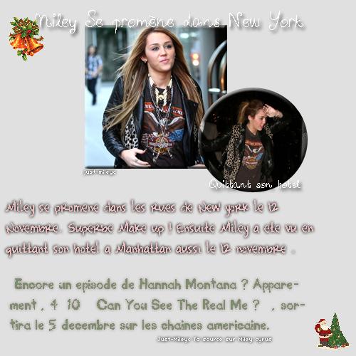 Miley Se promenant dans New York