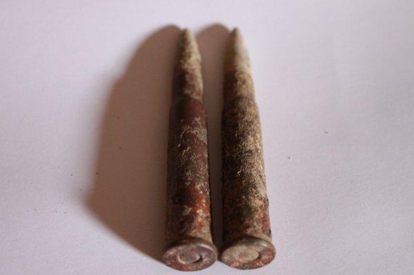 voici deux balles de fusil