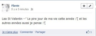 Le genre de publication sur Facebook --""