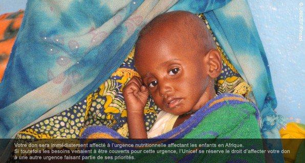 Urgence malnutrition en Afrique !