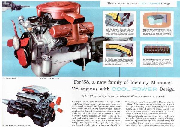 Mercury Monterey Convertible troisième génération 1957 - 1958.