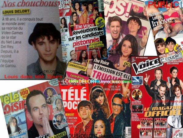 Les première couvertures de Louis via l'émission The Voice :) [Mars-Avril 2012]