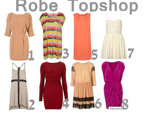 Selection de robe Topshop
