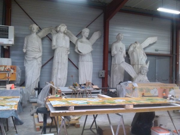statues en restauration