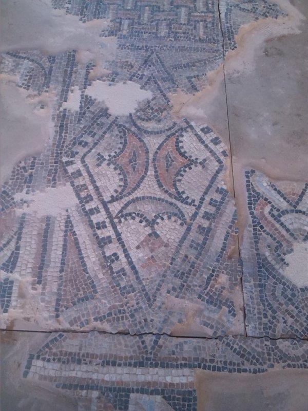trés beau detail de mosaique
